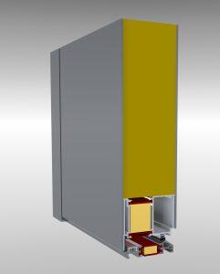 Panelové hliníkové dvere IDEAL