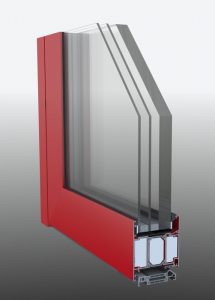 Protipožiadne hlinikové dvere WESTA 60